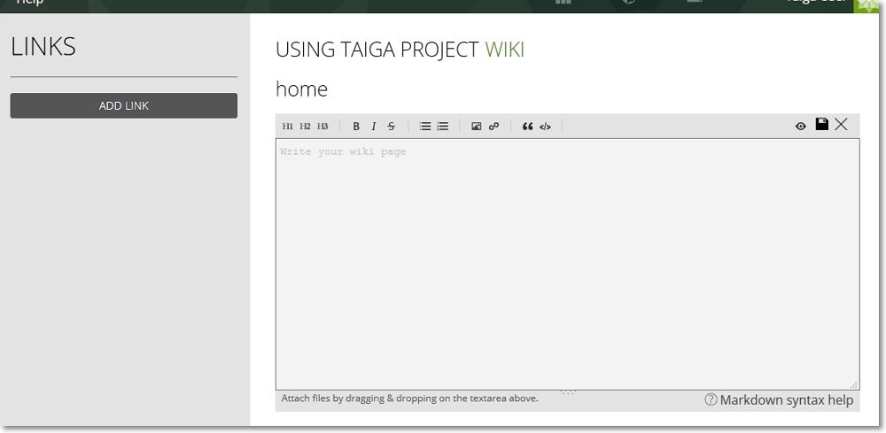 The WIKI module - Taiga PM
